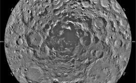Shackleton crater at the Moon's south pole, a possible crash site for LCROSS.