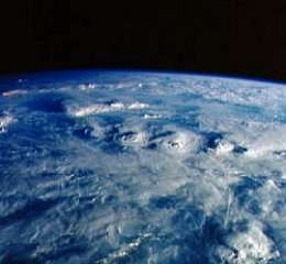 Thunderclouds over western Africa.