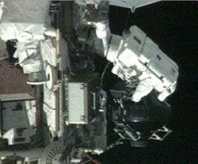 Spacewalkers at Work to Replace Station Gyro