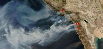 NASA Satellite Captures New Image of Raging California Wildfires