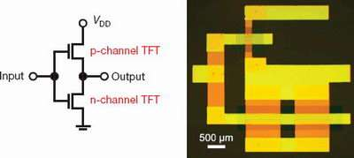 Scientists construct complementary circuits from organic materials