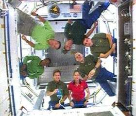Astronauts enter new module for first time
