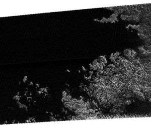 Cassini Radar Images Sea, Islands and Mountains