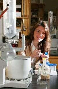 Eva Harth in her laboratory
