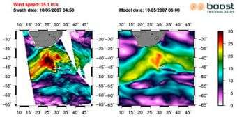 Huge waves that hit Reunion Island tracked from space