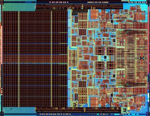 Intel Core 2 Extreme mobile processor die