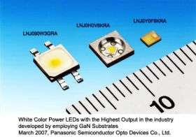 Panasonic develops White Color Power LEDs by employing GaN Substrates