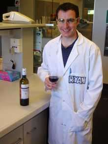 Dr Ryan Noble of CSIRO at work