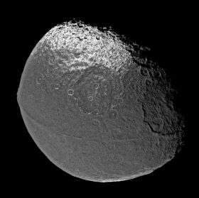 Saturn's Old Moon Iapetus Retains Its Youthful Figure