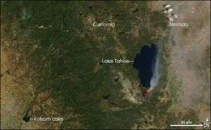 Strong Winds Fan Flames in Lake Tahoe Fire