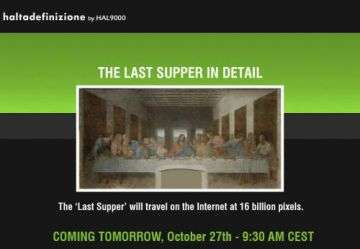 The Last Supper Will Travel The Internet At 16 Billion Pixels