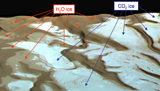 The origin of perennial water-ice at the South Pole of Mars