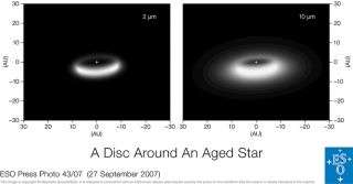 VLT interferometer detects disc around aged star