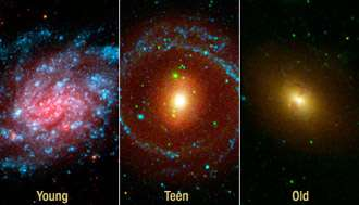 Watching Galaxies Grow Old Gracefully