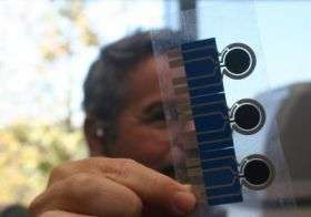 NanoEngineering Professor Joseph Wang and an Electrode