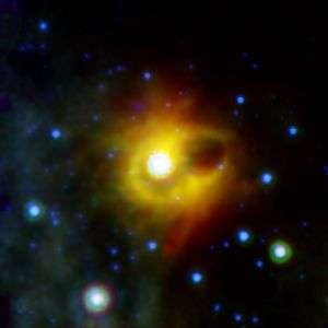 Scientists find giant ring encircling exotic dead star