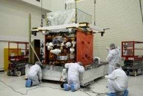 NASA's GLAST satellite gets twin solar panels in prep for launch