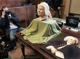 Bach Bust Displayed in Berlin (AP)