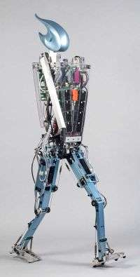 Dutch robot Flame walks like a human