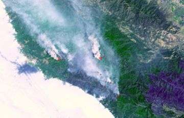 Fires Burning Near Big Sur, California