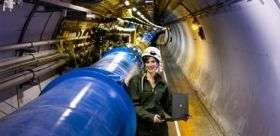 First particles observed in Large Hadron Collider