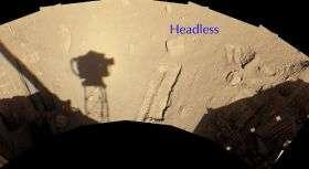 'Headless' Chosen for Attempt to Move a Martian Rock