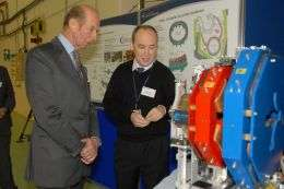 HRH The Duke of Kent visits ALICE at STFC Daresbury Laboratory
