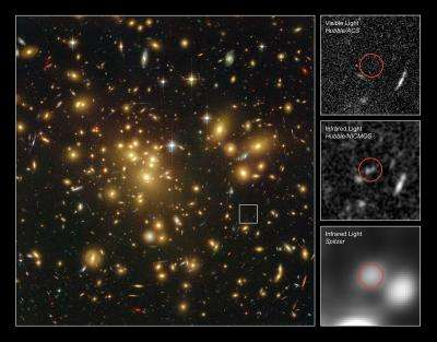Hubble finds strong contender for galaxy distance record