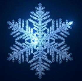 Math models snowflakes