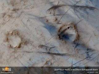 Orbiting Camera Details Dramatic Wind Action on Mars