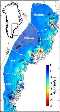Small glaciers -- not large -- account for most of Greenland's recent loss of ice, study shows