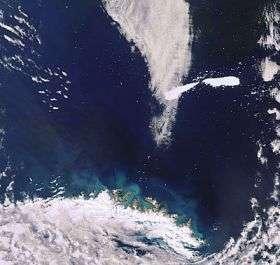 Splitting iceberg captured by Envisat