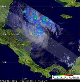 Tropical Storm Paloma Forms Quickly in the Caribbean Sea