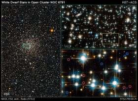 White Dwarf Stars in Open Cluster NGC 6791