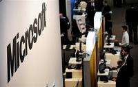 A Microsoft stand at a high-tech fair
