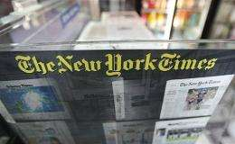 A New York Times paper rack is seen in 2008 in New York