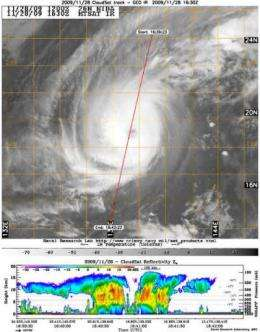 NASA captures Typhoon Nida's clouds from 2 angles