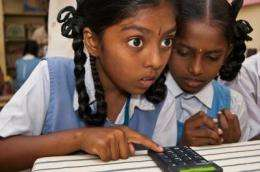 'One keypad per child' lets schoolchildren share screen to learn math