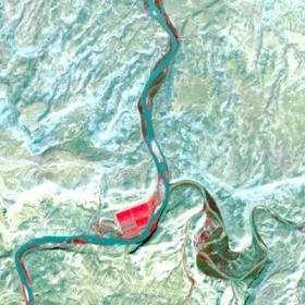 Satellite View, After Tamarisk Defoliation