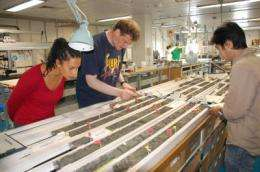Scientists obtain rocks moving into seismogenic zone