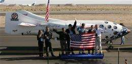 Space tourism yet to fly, 5 years since 1st flight (AP)