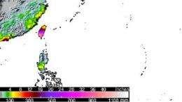 NASA satellite sees severe flooding rains from deadly typhoon morakot