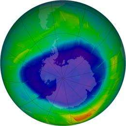 NASA Satellite Data Show Progress of 2009 Antarctic Ozone Hole