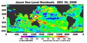 Satellites Capture Sea Surface Heights Around the World
