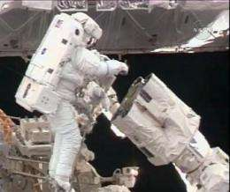 Shuttle, station astronauts relax before parting (AP)
