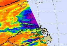 NASA satellites see Typhoon Lupit now bringing more rains to soggy Philippines