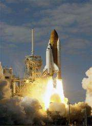Space shuttle Atlantis lifts off on supply mission (AP)