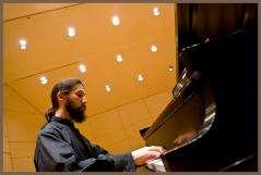 Aaron Berkowitz at the keyboard.