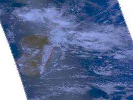 Aqua satellite sees Tropical Storm Bongani approaching Mozambique Channel