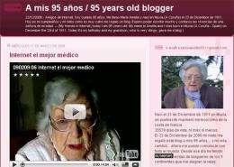 A screen grab of Maria Amelia Lopez's blog